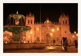 casco main plaza at night